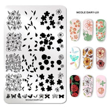 Load image into Gallery viewer, NICOLE DIARY - Stainless Steel Nail Stamping Plates - Naily