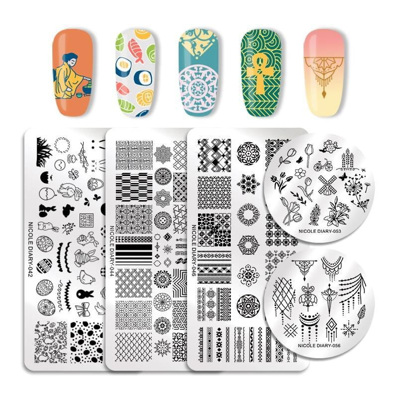 NICOLE DIARY - Stamping Plates Stainless Steel - Naily