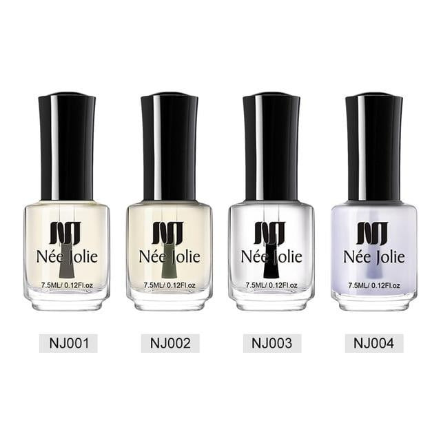 NEE JOLIE - 4 Bottles Nail Polish Base Coat & Top Coat-Naily