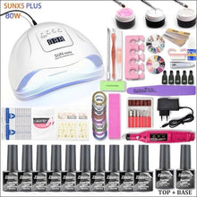 Load image into Gallery viewer, JEWHITENY - UV LED Lamp Dryer Nail Set-Naily