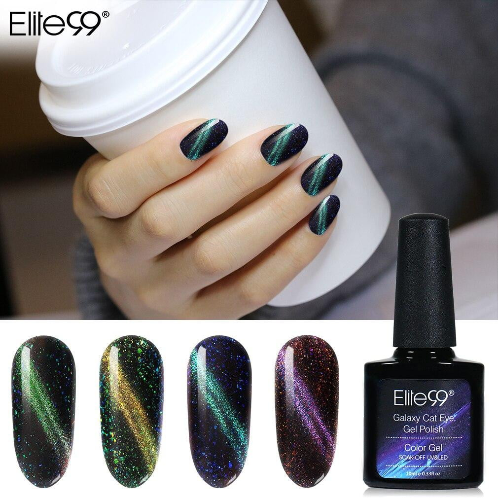 Elite99 - Gel Polish Galaxy Cat Eye Nail Art-Naily