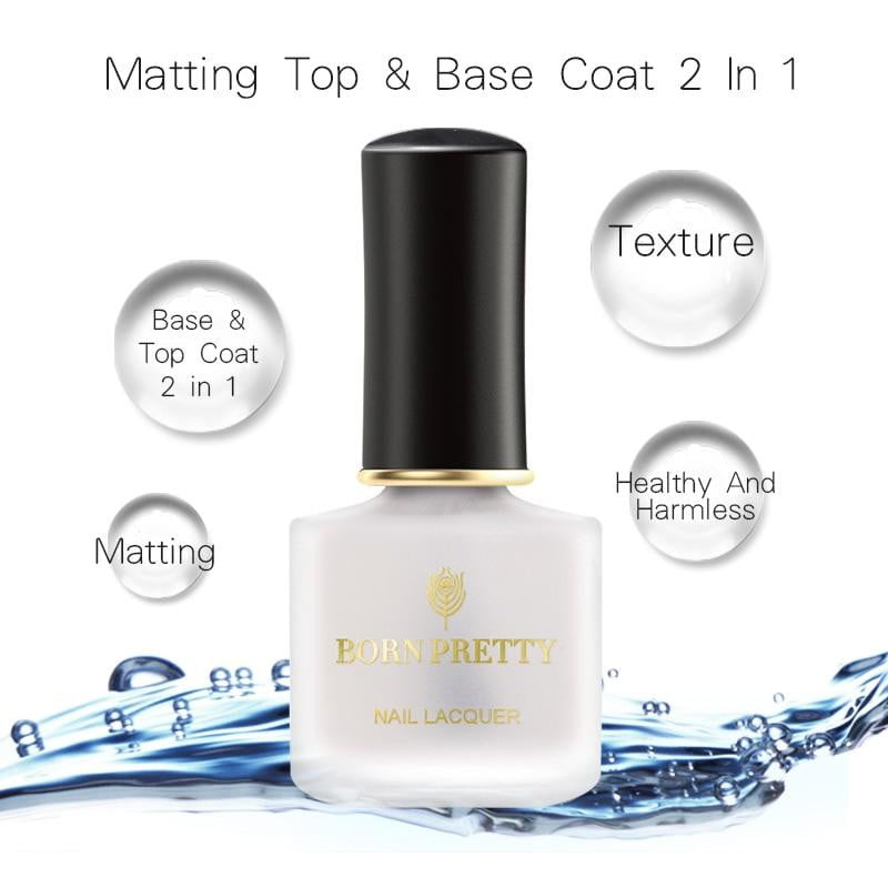 BORN PRETTY - Transparent Matt 2 in 1 Base Coat & Top Coat-Naily