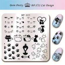 Load image into Gallery viewer, BORN PRETTY - Square Nail Stamping Plates-Naily