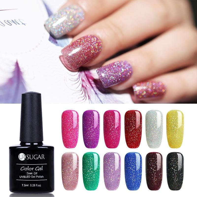 UR SUGAR - Rainbow Holographic Gel Nail Polish-Naily