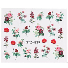 Load image into Gallery viewer, Full Beauty - 1pcs Nail Stickers Green Flowers-Naily
