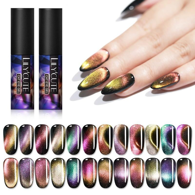 LILYCUTE - 7D Chameleon Magnetic Gel Nail Polish-Naily