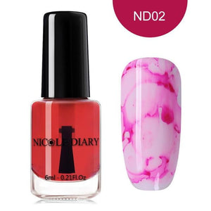 NICOLE DIARY - Blooming Nail Gel Watercolor Ink Smoke-Naily