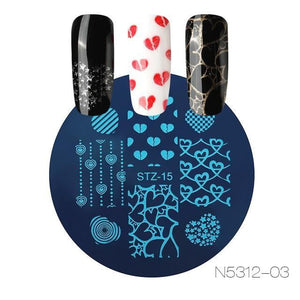 ROSALIND - Flower DIY Polish Stamping Clear - Naily