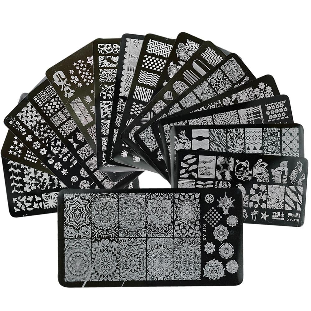 STZ - 1 x Lace Mixed Stamping Image Plates - Naily