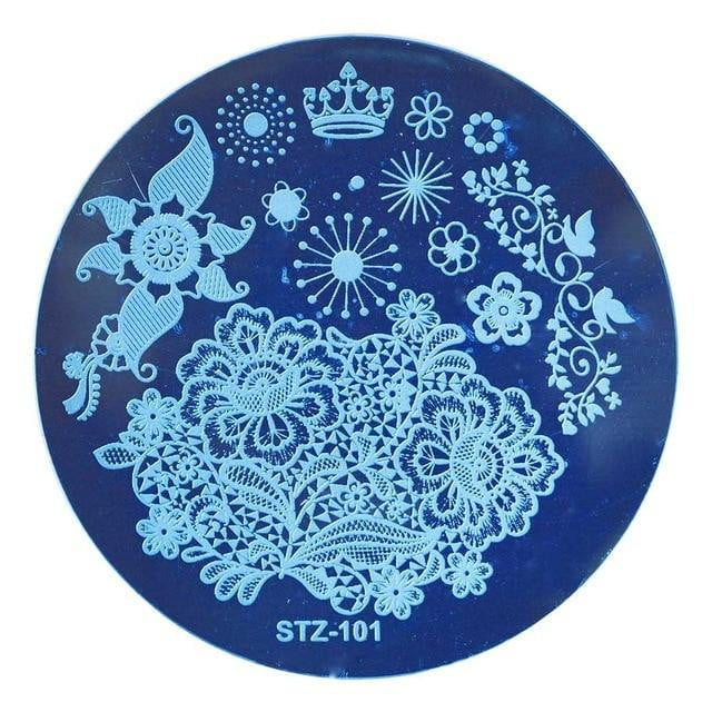 STZ - Round Nail Stamping Template Plates - Naily