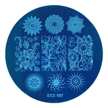 Load image into Gallery viewer, STZ - Round Nail Stamping Template Plates - Naily