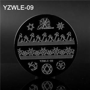 YWK -30 Designs Optional Nails Stamping Plate - Naily
