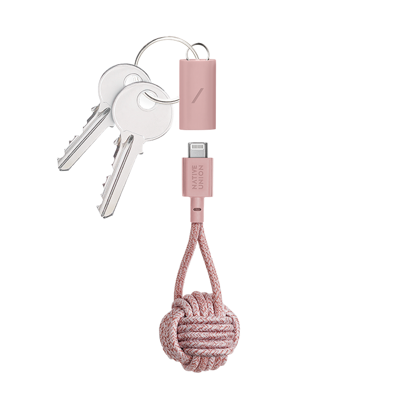__sku:KEY-CL-ROSE-AP;Key Cable - Rose - USB-C to Lightning