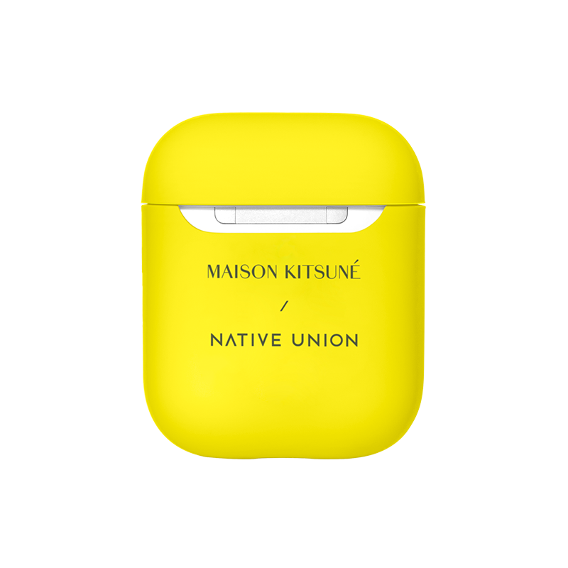 __sku:APCSE-YLW-NEO-MK;Maison Kitsuné Case for AirPods - Neon Yellow / AirPods