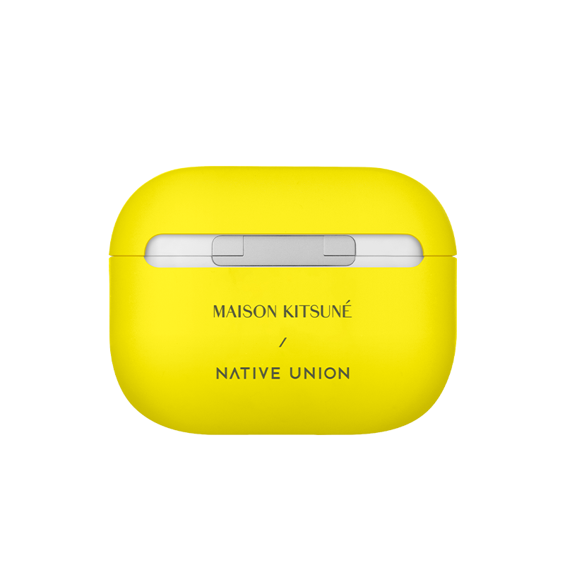 __sku:APPRO-YLW-NEO-MK;Maison Kitsuné Case for AirPods - Neon Yellow / AirPods Pro