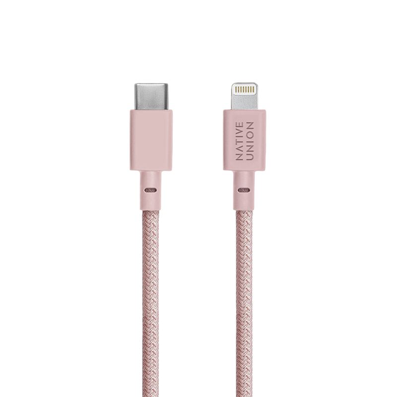 __sku:BELT-KV-CL-ROSE-2;Belt Cable - Rose - USB-C to Lightning