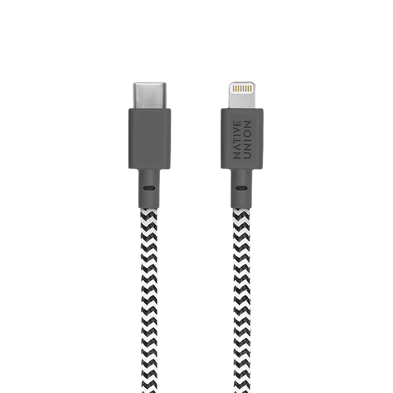 __sku:BELT-KV-CL-ZEB-2;Belt Cable - Zebra - USB-C to Lightning