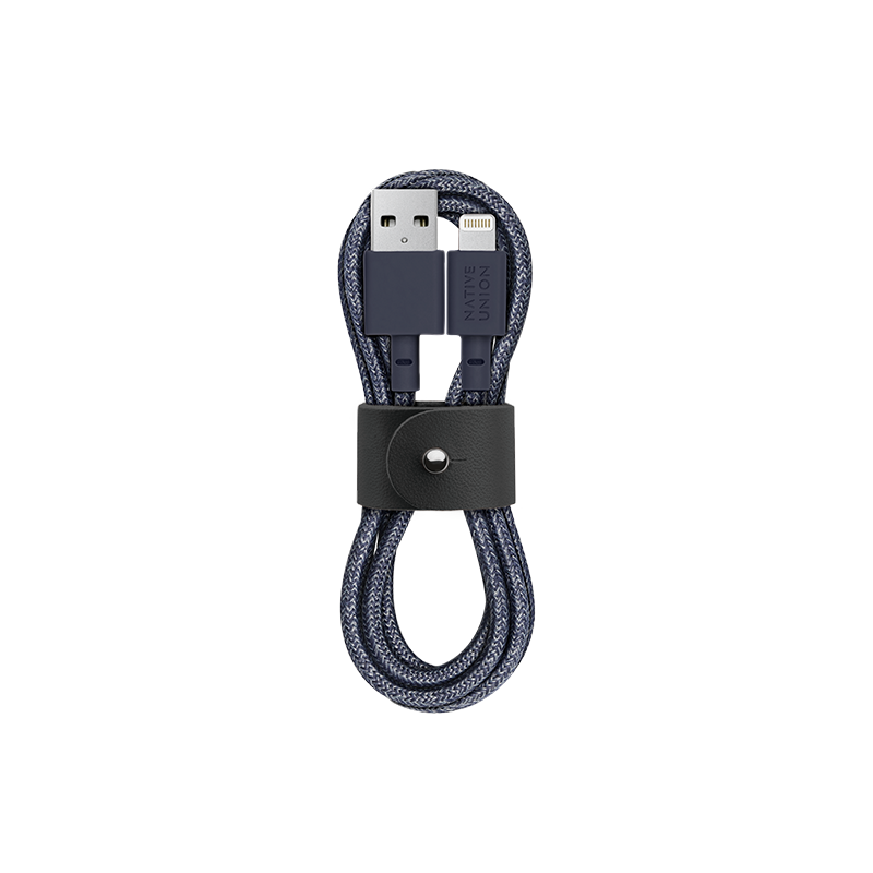 __sku:BELT-KV-L-IND-2;Belt Cable - Indigo - USB-A to Lightning
