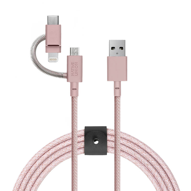 __sku:BELT-KV-ULC-ROSE;Belt Cable - Zebra - Rose