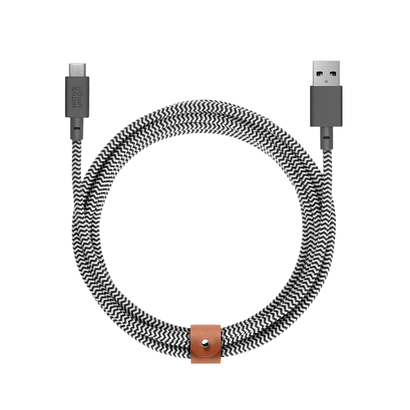 __sku:BELT-KV-AC-ZEB-3;Belt Cable XL - Zebra - USB-A to USB-C