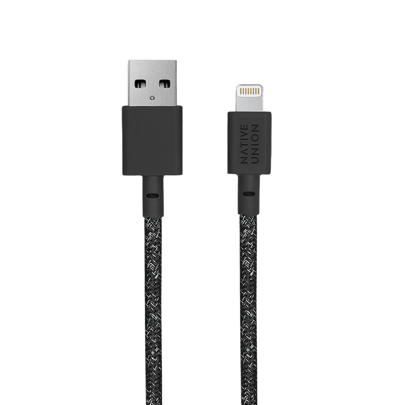__sku:BELT-L-CS-BLK-3-NP;Belt Cable XL - Cosmos - USB-A to Lightning