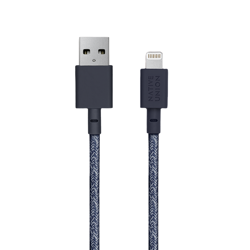 __sku:BELT-L-IND-3-NP;Belt Cable XL - Indigo - USB-A to Lightning