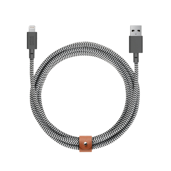 __sku:BELT-KV-L-ZEB-3-TW;Belt Cable XL - 斑马线 - USB-A至USB-A Lightning