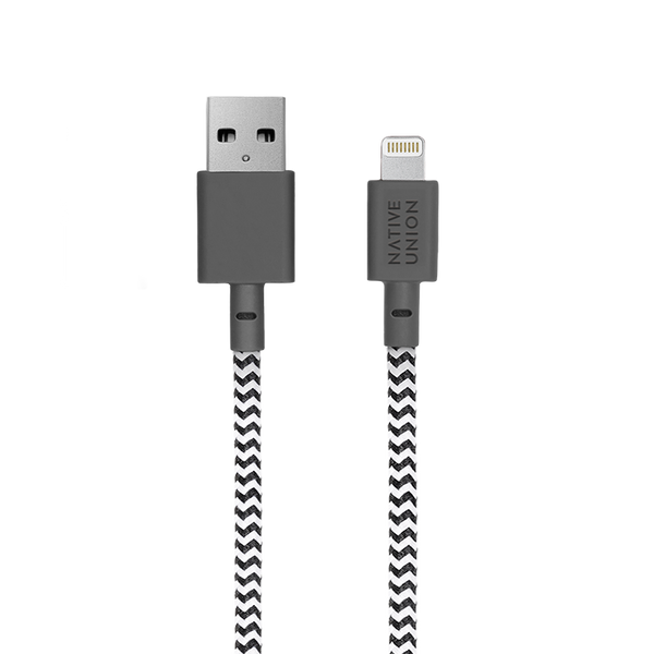 __sku:BELT-KV-L-ZEB-3;Belt Cable XL - Zebra - USB-A to Lightning