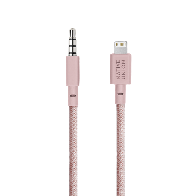 __sku:BELT-L-AUX-ROSE;Belt Audio - Rose - 3.5mm Aux to Lightning