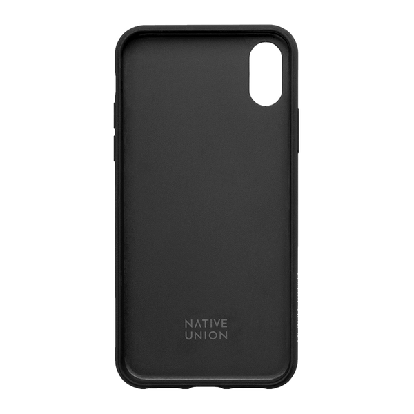 coque en cuir clic marquetry native union pour iphone xs max