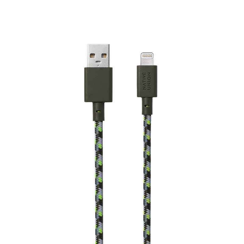 __sku:BELT-L-GRN-MK;Belt Cable (Maison Kitsuné Edition) - USB-A to Lightning
