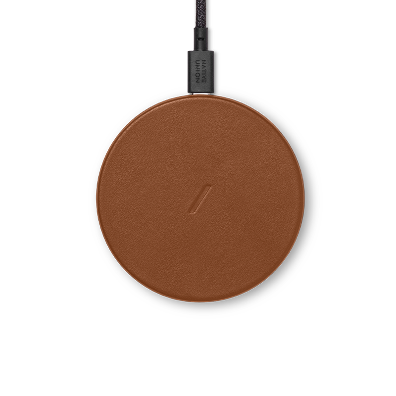__sku:DROP-BRN-CLTHR-NP;Drop Classic Leather Wireless Charger - Brown