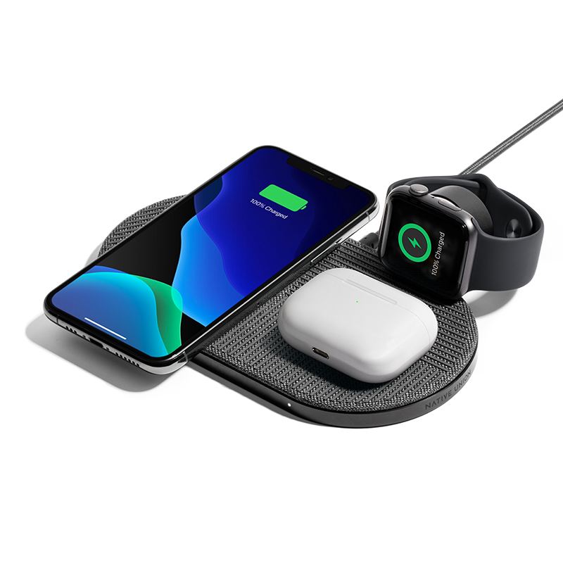 __sku:HOLD-DROP-XL-GRY-AW-UEU;__sku:HOLD-DROP-XL-GRY-AW-UCA; Drop XL Wireless Charger (Watch Edition) - Slate
