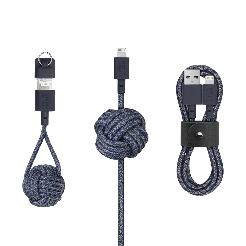 Charging Cable Collection - Indigo / USB-A to Lightning