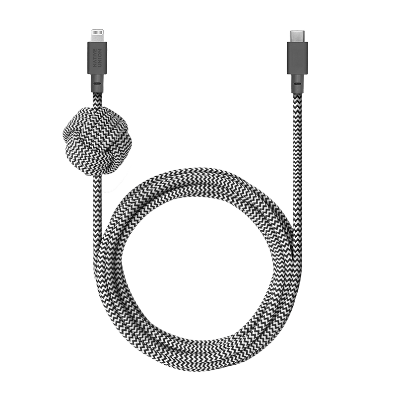 __sku:NCABLE-KV-CL-ZEB;Night Cable - Zebra - USB-C to Lightning