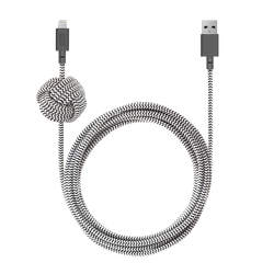 Night Cable - Zebra - USB-A to Lightning