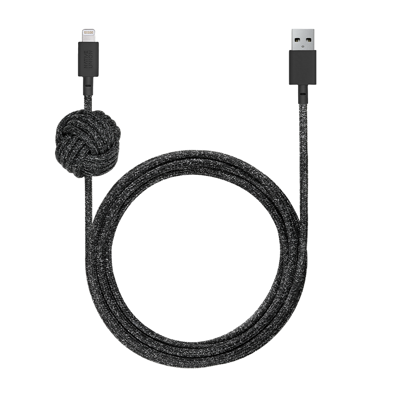 __sku:NCABLE-L-CS-BLK-NP;Night Cable - Cosmos - USB-A to Lightning