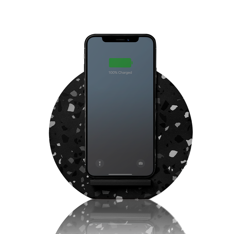 34253233225867,Dock Terrazzo Wireless Charger - Black