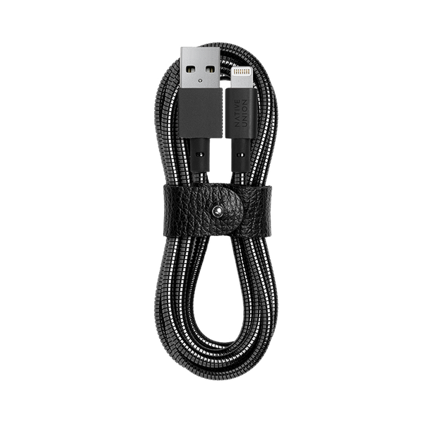 __sku:COIL-L-BLK-TD;Coil Cable - Black - USB-A to Lightning