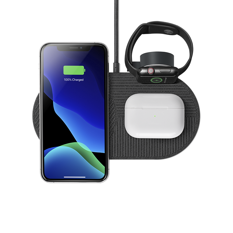 __sku:DROP-XL-GRY-AW-UEU;__sku:DROP-XL-GRY-AW-UCA; Drop XL Wireless Charger (Watch Edition) - Slate