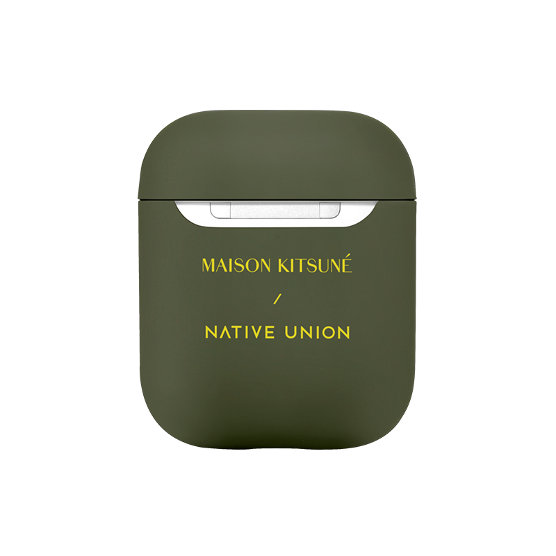 34253244104843,Maison Kitsuné Case for AirPods - Green