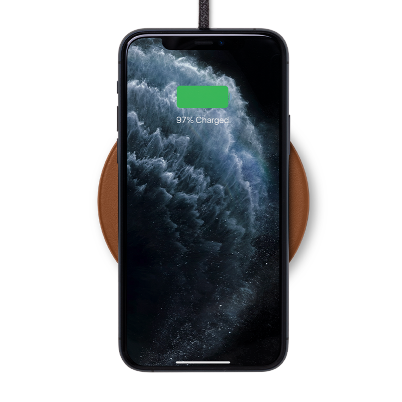 34253234274443,Drop Classic Leather Wireless Charger - Brown