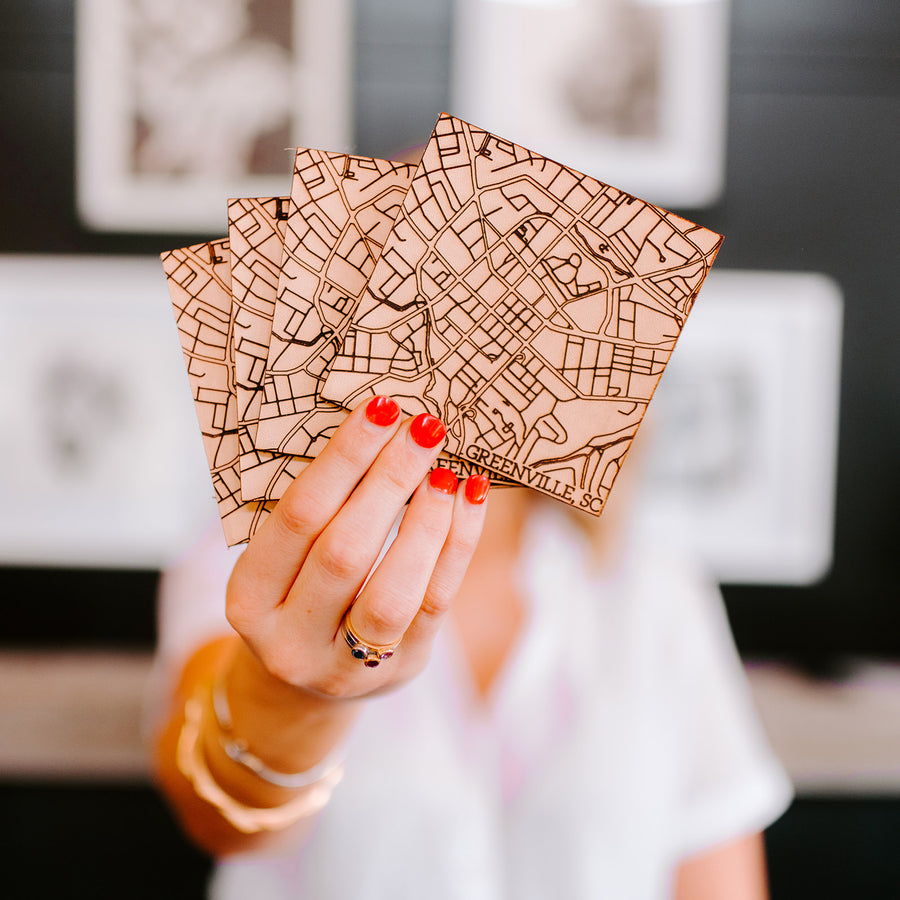 Greenville Map Coasters