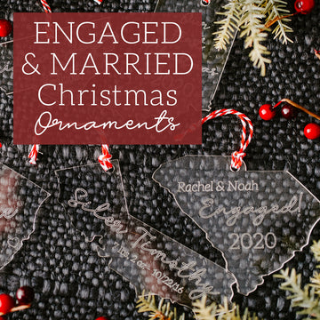 Engaged & Just Married Ornaments