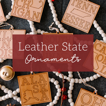 Leather State Ornaments