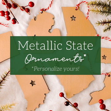 Metallic State Ornaments