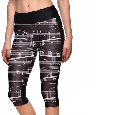 MUSICAL NOTES ATHLETIC CAPRI