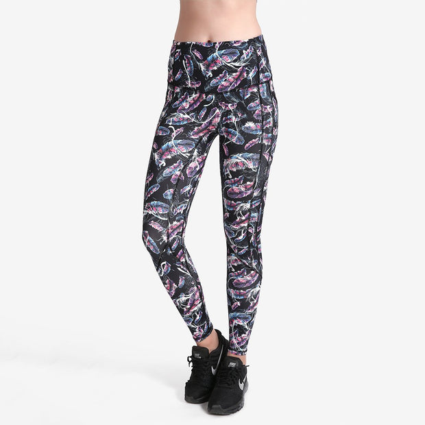 HOLOGRAPHIC FEATHER PERFORMX LEGGINGS