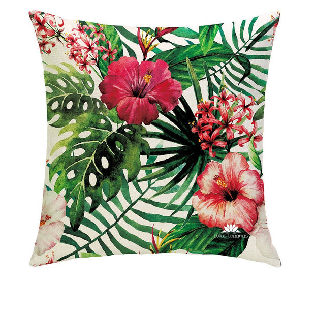 RED PETALS PILLOW COVER