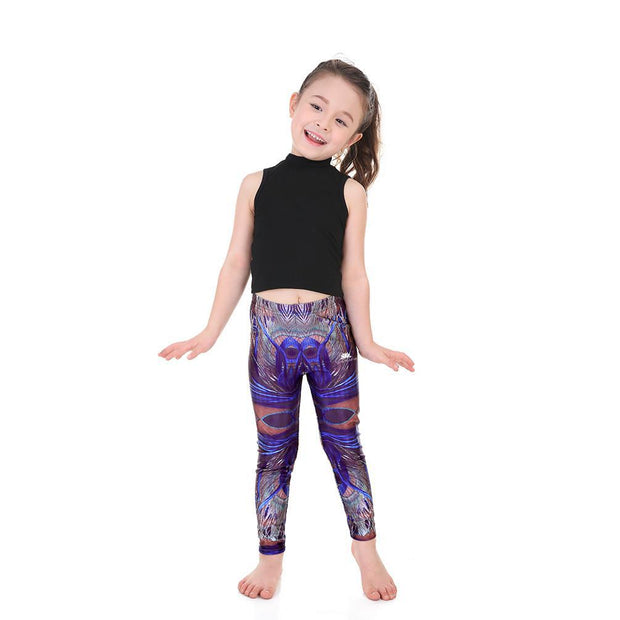 KID'S PEACOCK FEATHER LEGGINGS